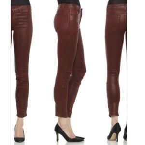 🆕Joe's Ruched Coated Brown/Copper Skinny Jeans 26